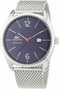 Lacoste Menand039s Quartz Watch With Blue Dial Analogue Display 2010683