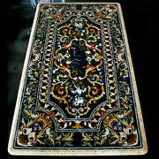 6and039x3and039 Marble Table Top Pietra Dura Marquetry Inlay Handicraft Work Home Decor