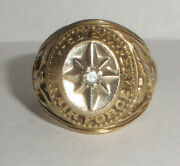 Vintage Wwii Era United States Air Force 10k Gold With Diamond Ring Size 9