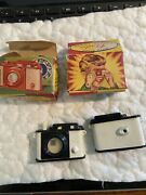 Pair Of Vintage Hong Kong Movie Stars Camera Viewer Dime Store Toy In Box 1950s