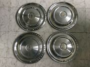1957 Dodge 14andrdquo Hubcaps. Full Set. De57hc Some Small Dents. 85.00