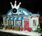 Bowl St. Nicholas Square Bowling Alley Christmas Village 2014 Lighted