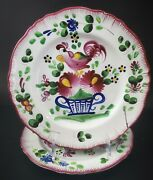 6 French Faience Pottery Coq Au Panier Rooster Chanticleer St Clement Plates