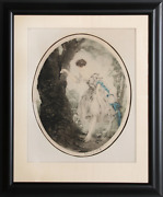 Louis Icart Hiding Place Etching Signed In Pencil