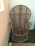 Peacock Chair Vintage/antique Wicker/rattan Classic Pattern Sturdy