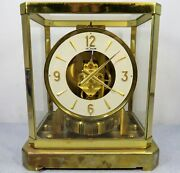 Rare Vintage Jaeger-lecoultre Atmos 15 Jewel Mantle Clock Vxn Working Very Well