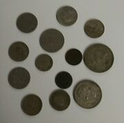 Mexico Coin Lot Of 13, 1906-71 Circulated Coinage