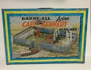 Marx Carry All Action Cape Kennedy Space Play Set 4625 Metal Case 1960s