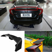 For 2016-2020 Honda Civic 10th Abs Black Rear Trunk Spoiler Aircraft Wing Flap