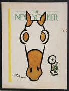 Abe Birnbaum The New Yorker Poster Mounted On Board