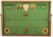 1931 Dual Sided Wooden Game, Knute Rockne Football And Graham Mcnamee World Series