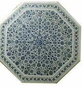 3and039 White Marble Table Top Center Coffee Home Decor Inlay Malachite C44