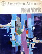 Lawrence Gaynor Amandeacutericain Airlines - New York Voyage Affiche