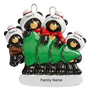 Personalized Christmas Ornament Black Bears With Tree Family Of 4 Holiday Gift