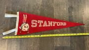 Vintage Wool Stanford University Indians Pennant Pacific Athletic Company
