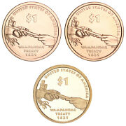 2011 P D S Native American Sacagawea Dollar Year Set Proof And Bu Us 3 Coin Lot