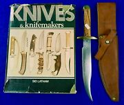 Vintage Us 1970and039s Custom Handmade Phillip Day Bowie Fighting Knife Dagger Sheath