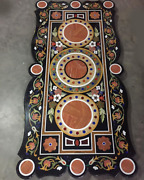 5and039x2.5and039 Marble Dining Table Top Stones Inlaid Mosaic Home Decor Pietra Dura