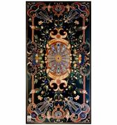 60and039and039x31and039and039 Marble Table Top Pietra Dura Inlay Work For Home Decor And Garden