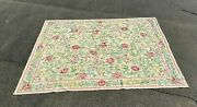 Vintage Antique French Aubusson Style Floral Needlework Tapestry Carpet Rug
