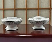 Pair Holt Howard Candle Holders