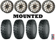 Kit 4 Itp Versa Cross Tires 33x10-20 On System 3 St-3 Bronze Wheels Can