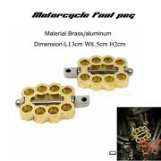 Cnc Old School Brass Hollow Motorcycles Foot Pegs For Dyna Sportster Softail