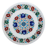 30 White Marble Table Top Dining Coffee Inlay Blue Lapis Green Malachite