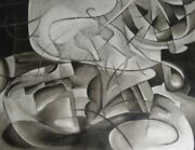 The Birth Of Light   Flavio   Abstract Painting   55.5 In X 73 In.