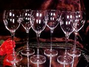6 Beautiful Really Tall 9 1/2 - 12 Oz Wine Goblets Champagne Stems Glasses
