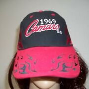 Gm Camaro 1969 Ss Gm Black With Red Trim Hat - Adult Unisex One Size-preowned