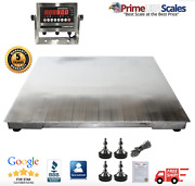 Op-916ss Ntep 4and039 X 4and039 Floor Scale Stainless Steel Washdown 2500 Lb Capacity