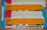 Walthers 932-23508 Pullman 86and039 Hi-cube Boxcar 2-pk Chicago Northwestern Cnw