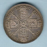 Great Britain. 1887 Double Florin 4/-. Roman 1.. Ef/gef - Much Lustre