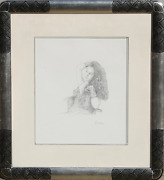 Douglas Hofmann Woman In Lace Pencil Drawing On Paper Signed