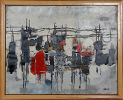 Willering Epko Barbed Wire Oil On Canvas Signed L.r