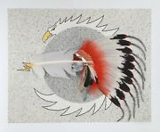 Jean-louis Husson Native American 1 Giclee Signed And Numbered In Pencil