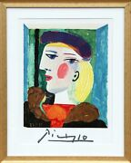 Pablo Picasso Land039profil Marie-therese Walter Lithographie