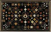 4and039x2.5and039 Pietra Dura Dining Table Top Marble Inlay Art Decorative Handicraft