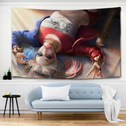3d Suicide Squad Tapestry Harleen Quinzel Tapestry Wall Hanging Wall Home Decor