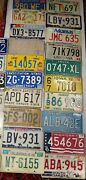 Vintage Old Car Automobile License Plate Ny Ca Texas Fl Ma Mixed State Lot Of 33