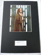 Alec Guinness Signed 8x12 Star Wars Autograph Matted Look