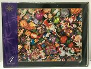 Christopher Radko Home For The Holidays Kaleidoscope Set/4 Wood Placemats New