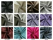 Premium Crushed Velvet Fabric Roll Glitz Upholstery Curtains Cushions Covers