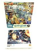 Mixed Used Lot 1000 Piece Jigsaw Puzzles Springbok The Bait Shop Space Scene