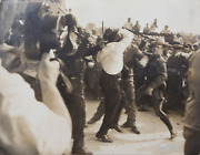 Nat Fein Civil Rights Riot Gelatin Silver Print Photograph Signed In Silver P