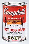 Andy Warhol Campbelland039s Soup Ii Hot Dog Bean Screenprint Stamped In Blue Vers