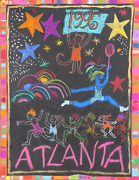 Judith Bledsoe Atlanta Olympics - Star Athletes Pastel And Collage On Paper S