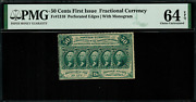 Fr-1310 0.50 First Issue Fractional Currency - 50 Cents - Pmg 64 Epq