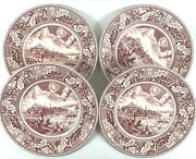 4 Johnson Brothers Historic America Pink View Of Boston Dinner Plate 10 Free Sh